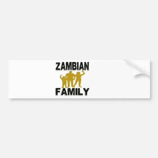 Zambian Family Bumper Sticker