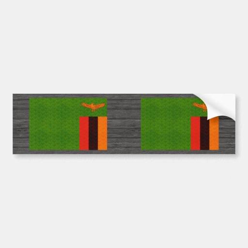 Zambian flag bumper sticker