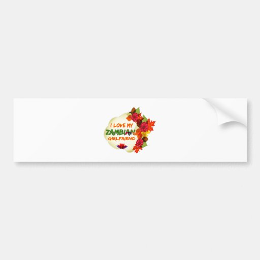 Zambian Girlfriend designs Bumper Stickers