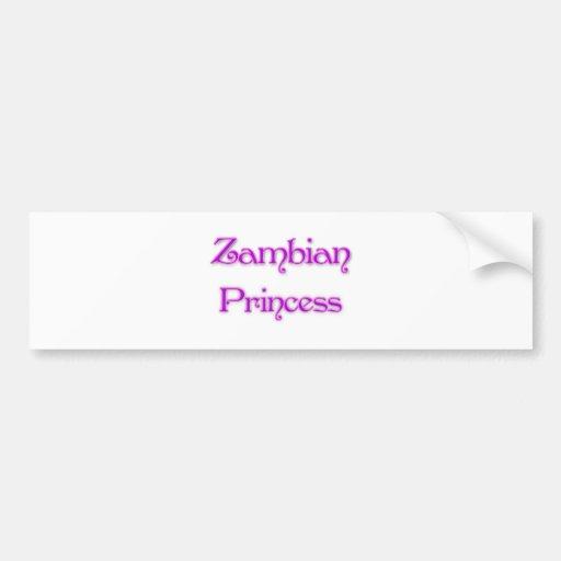 Zambian Princess Bumper Stickers