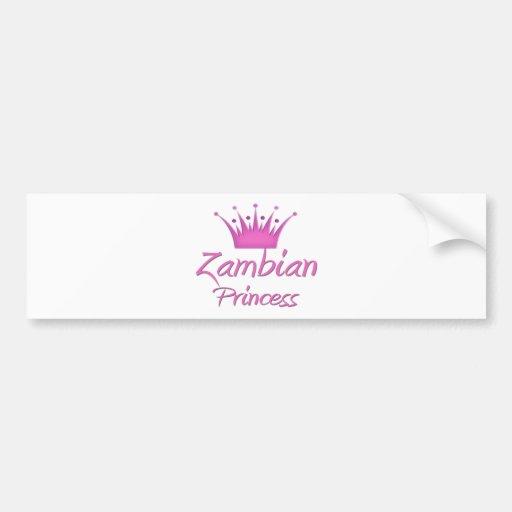 Zambian Princess Bumper Sticker