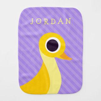 Zander the Duck Burp Cloth