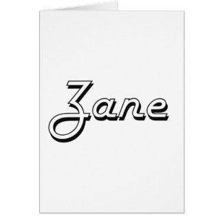 Zane Classic Retro Name Design Greeting Card