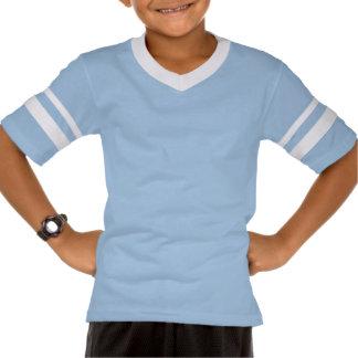 Zane North retro light blue kids tee