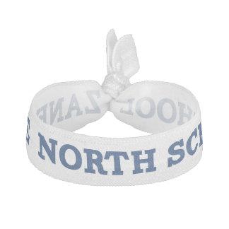 Zane North School Blue on White Hair Tie