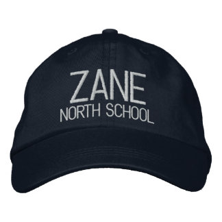Zane North School Embroidered Baseball Hat Embroidered Hats