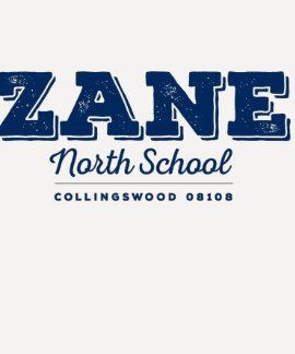 Zane North Women's Navy Fitted Baseball 3/4 Tee