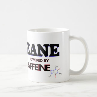 Zane powered by caffeine coffee mugs