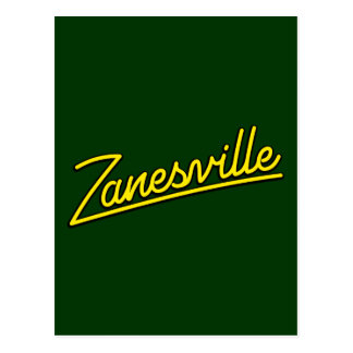 Zanesville in yellow post card