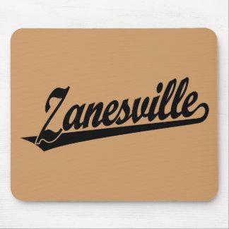 Zanesville script logo in black mouse pad