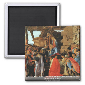 Zanobi Altar Of The Adoration Of The Magi Fridge Magnet