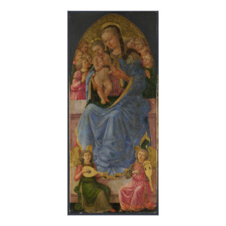 Zanobi Machiavelli The Virgin and Child Poster