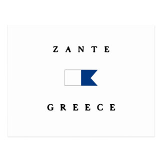 Zante Greece Alpha Dive Flag Postcard
