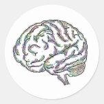 Zany Brainy Round Sticker