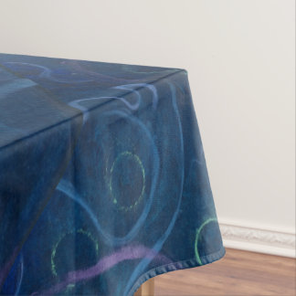 Zany Dining | Pastel Fun Blue Chalk Cute Scribble Tablecloth