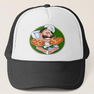 Zany Italian chef speedy pizza delivery Trucker Hat