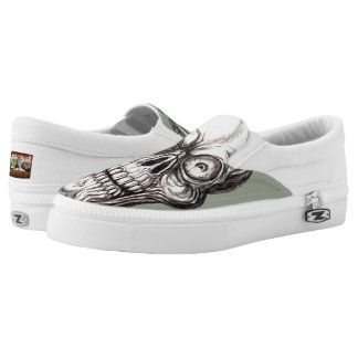 ZANY SKULL SLIP ON SHOES
