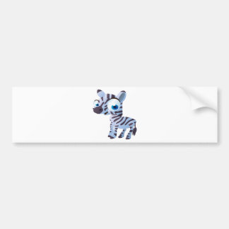 Zany The Zebra Bumper Sticker