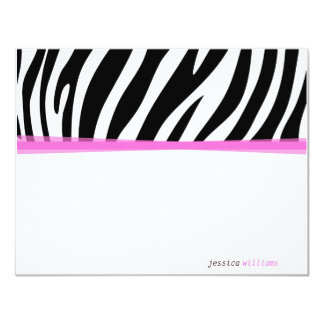 Zany Zebra 11 Cm X 14 Cm Invitation Card