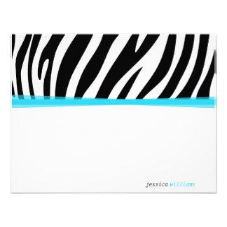 Zany Zebra Custom Invite