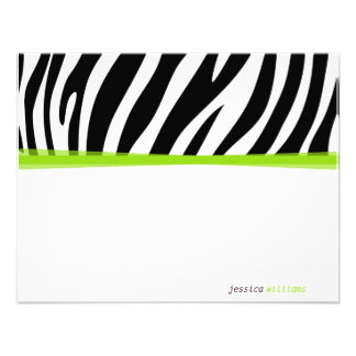 Zany Zebra Custom Invites