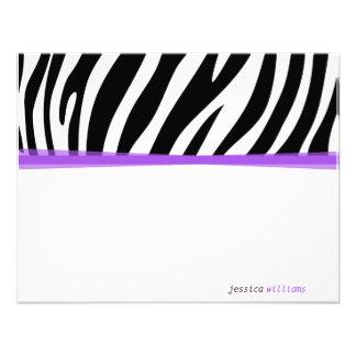 Zany Zebra Personalized Invite