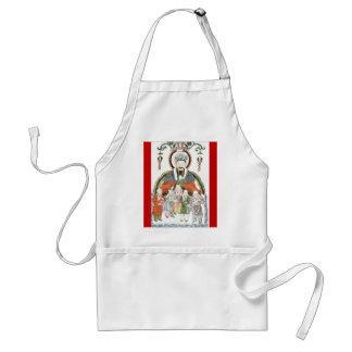 Zao Jun Chinese kitchen god apron
