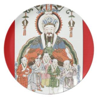 Zao Jun Chinese kitchen god plate