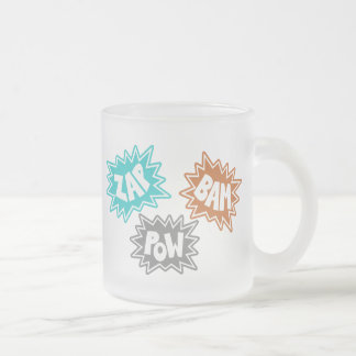 ZAP BAM POW Comic Sound FX - Orange Coffee Mug