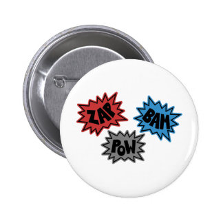 ZAP BAM POW Comic Sound FX - Original Pin