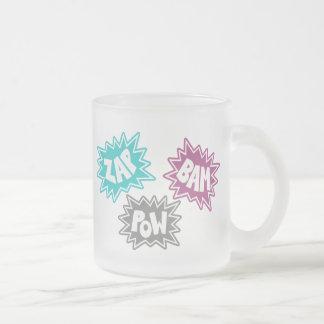 ZAP BAM POW Comic Sound FX - Pink Mug