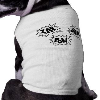 ZAP BAM POW Comic Sound FX - White Dog T Shirt