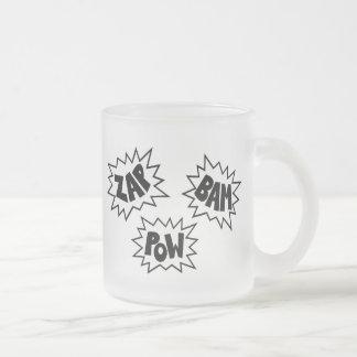 ZAP BAM POW Comic Sound FX - White Mugs