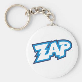 Zap Cartoon Splat Bang Basic Round Button Key Ring