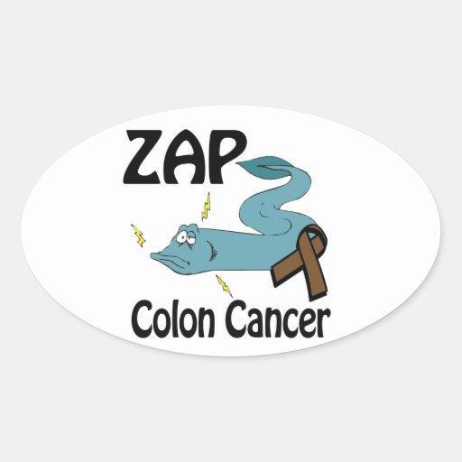 ZAP Colon Cancer Oval Stickers