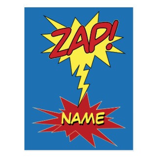 ZAP! custom postcard