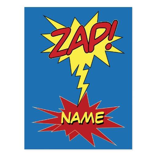 ZAP! custom postcard