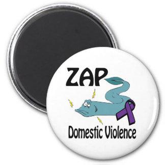ZAP Domestic Violence 6 Cm Round Magnet
