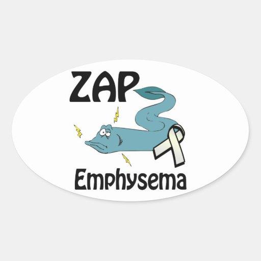 ZAP Emphysema Oval Sticker