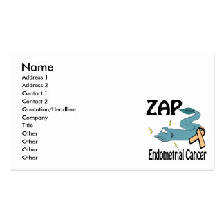ZAP Endometrial Cancer Pack Of Standard Business Cards