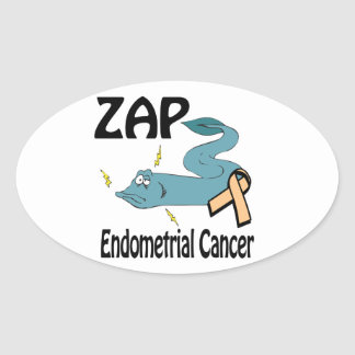 ZAP Endometrial Cancer Oval Stickers
