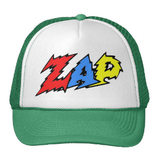 ZAP hat red, yellow and blue