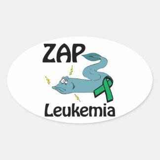 ZAP Leukemia (green) Stickers