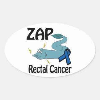 ZAP Rectal Cancer Oval Sticker