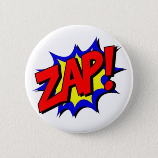 Zap! Super Hero Round Button