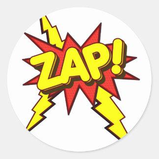 Zap, Zing, Pow! Classic Round Sticker