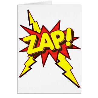 Zap Zing Pow Greeting Card