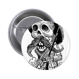 Zapatista  Calavera. c. early 1900's. Mexico. Pinback Button