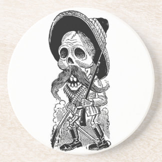 Zapatista  Calavera. c. early 1900's. Mexico. Coaster