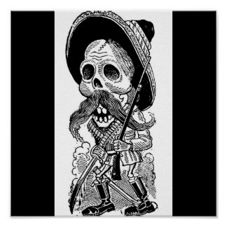 Zapatista  Calavera. c. early 1900's. Mexico. Poster
